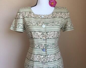 Vintage 80s tropical dress//working girl//