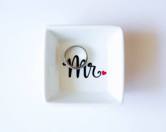 Mr Ring Dish | Engagement Ring Dish | Bridal shower gift | Ring holder | Mr Ring Dish | Custom Engagement Ring Holder
