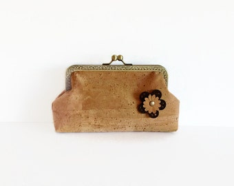 Eco Friendly Cork Clutch - Genuine Cork Purse - Gift for Her