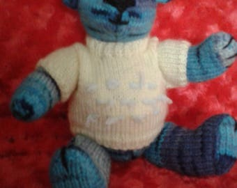 Small knitted teddy