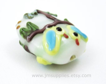 25mm Chicks in a Tree Oval Lampwork Beads