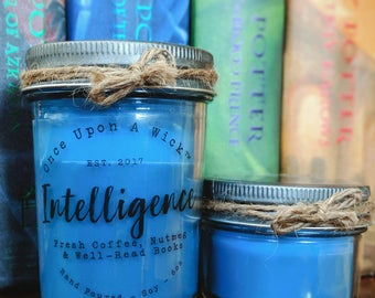House Pride - Intelligence | Ravenclaw Inspired Bookish Soy Candle