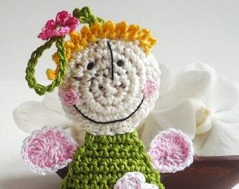 Angel Ornament - Crochet Ornament - Crochet Angel - Crochet Doll - Doll Ornament - Nursery Decor - Birthday Gift - Gift for Girl
