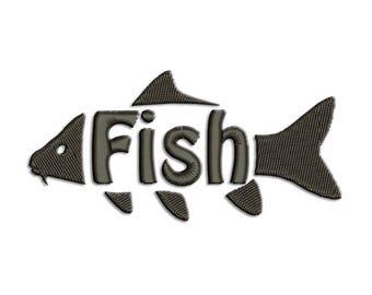 Fish Embroidery design - Carp - Machine embroidery design