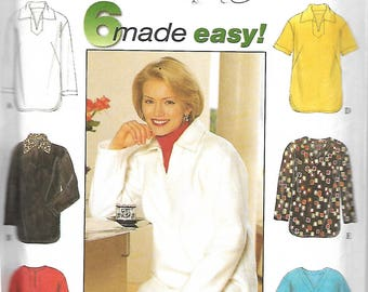 Simplicity 7764 Misses Tunic Sewing Pattern, 6 Made Easy, Size XS-S-M, UNCUT