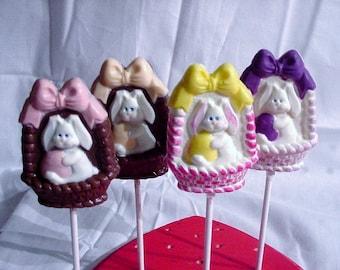 Easter Bunny in a Basket Lollipops