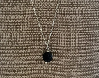 Diffuser necklace , lava bead necklace