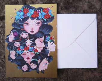 Postcard with envelope