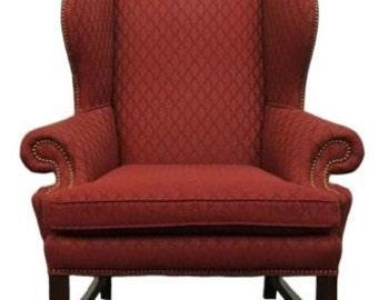 CENTURY FURNITURE Show Place Collection Wing Chair w/ Nail Head Trim