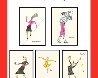 DO YOUR THING -  5 Card Lady Pack - Greeting Cards & envelopes