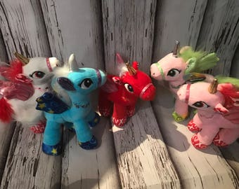 Personalized unicorn plushie, stuffed animal, customized, Valentine's Day Gift, Unicorn, Personalized Gifts, kids, child, baby,