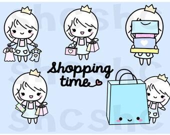 Shopping Time Digital Clipart