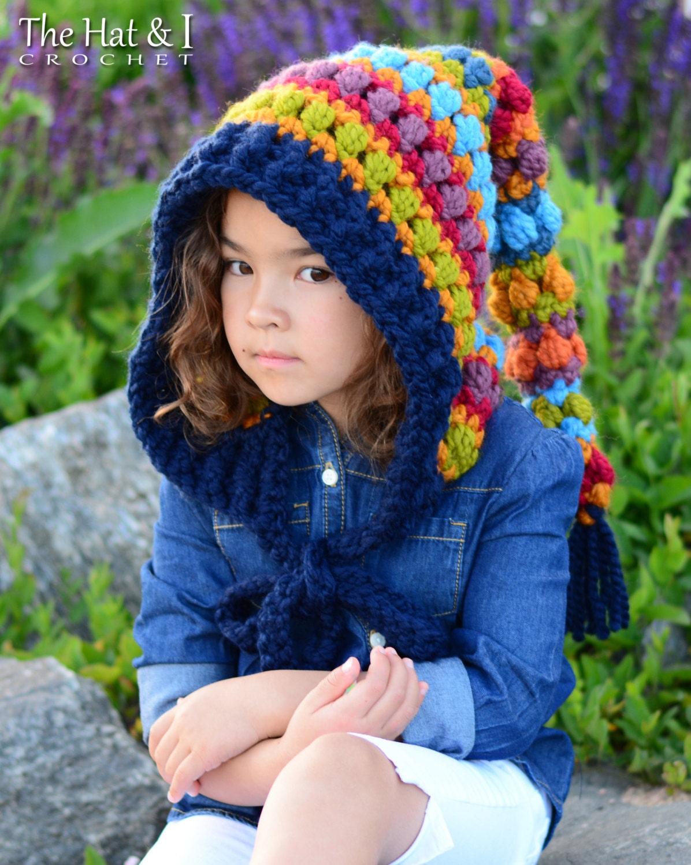 CROCHET PATTERN Bohemian Nights Hoodie chunky crochet
