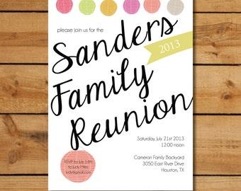Family Reunion Invitations - Warm Summer Lanterns