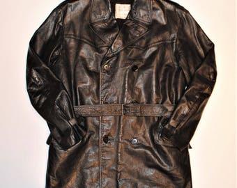 Aviakit leather coat