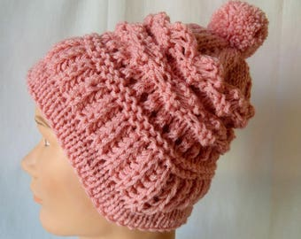 Hat rosewood knitted handmade items fantasies.