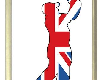 Union Jack Flag Golfer Fridge Magnet 7cm by 4.5cm,