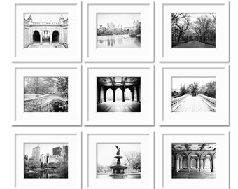 SALE 5x7 Prints New York City Print Central Park Photos Set of 9 Black and White New York Photography Architectural Photos New York Wall Art