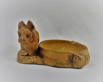 Antique ashtray, collectible ashtray, scottish terrier, scottie dog, scotty dog, 1940s, scottie ashtray, ashtray, ash tray, vintage scottie