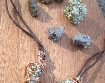 Pyrite Crystal Healing Necklace
