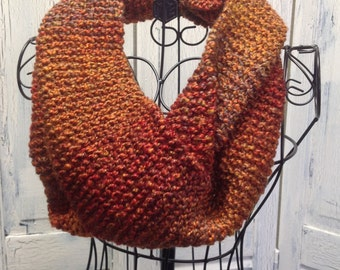 Handmade Knitted Infinity Scarf (IFS-Wildfire)