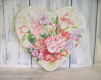Vintage heart shape floral pattern metal cute jewelry box trinket, flower pattern heart jewelry box trinket, girls jewelry box trinket