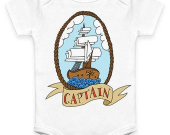 Traditional Captain Tattoo Baby Clothes