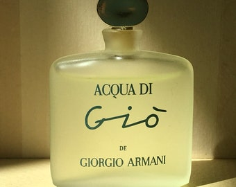 """ARMANI perfume mini, """"AQua di Gio ,vintage bottle unopened,full, authentic, original."""