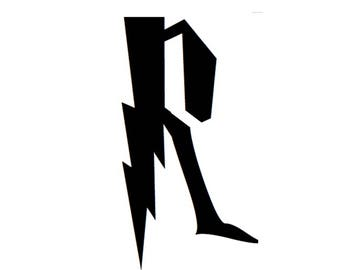 Letter R Stencil Made from 4 Ply Mat Board-Wizard Font