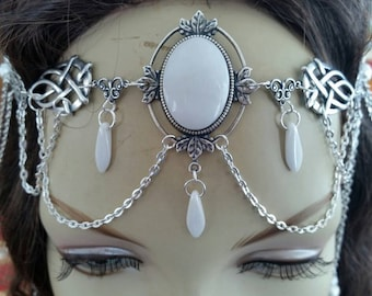 Snow White Circlet of the Winter Priestess bridal wedding cosplay goddess celtic druid