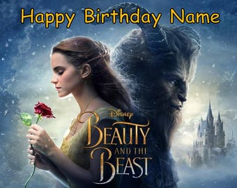 Beauty and the Beast Belle Edible Image Cake Topper Personalized Birthday 1/4 Sheet