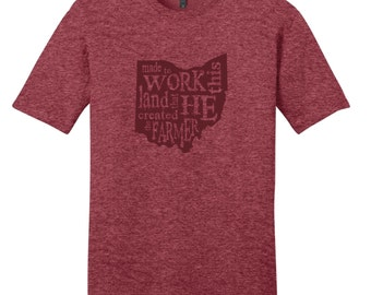 The Farmer Heathered Red T-Shirt - Ohio T-Shirt
