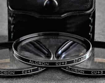 Alcron 52mm Close-Up Lens Set No.+1 No.+2 No.+4 *EX++* Macro Lenses MiNTY !