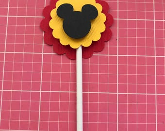 Mickey Mouse 25 cupcake toppers