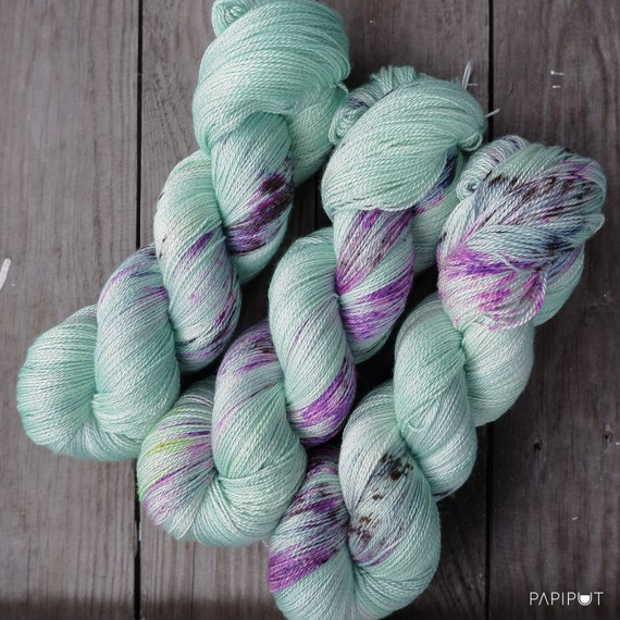 Recommended dyers - Papiput Yarn's Silky Merino Lace Yarn, colorway