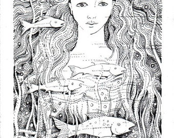 River Goddess Original Illustration