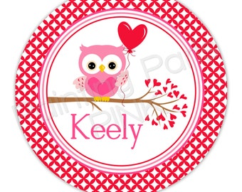 "Sweet Owl Personalized 10"" Melamine Plate, 20 oz. Bowl or 2 Piece Set 