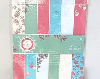 Christmas Craft Decoration Paper Pack Card Making Scrap Booking 36 Sheets 18 Designs Festive Paper Sheets Papermania A5 Craft Supplies