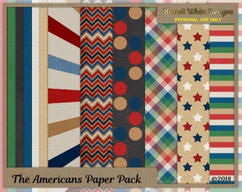 The Americans - United States Patriotic Digital Scrapbooking Backgrounds