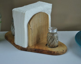 Napkin Holder With Salt and Pepper Shakers. Wedding Gift, Housewarming Gift, Personalization