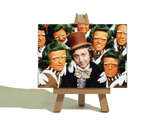 WILLY WONKA Mini Canvas - Vintage Canvas and Easel Set - The Perfect Gift