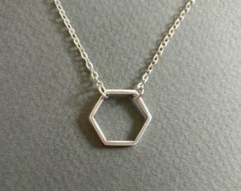 Hexagon. Necklace.