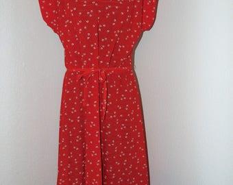 Vintage 1970s Red Dress by Grissom Lane in size L