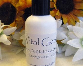 Dreadlock Shampoo Neem Oil Black Soap Shampoo Lemongrass & Lavender 4oz