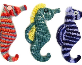 FLAT KNIT Seahorse Plush Amigurumi Toy Pattern PDF Digital Download