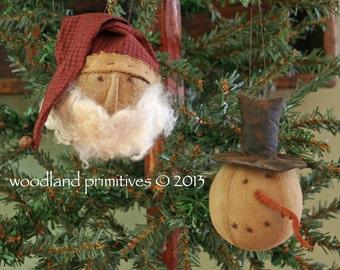 Simply Santa & Snowman Ornament pattern...quick, fun and profitable