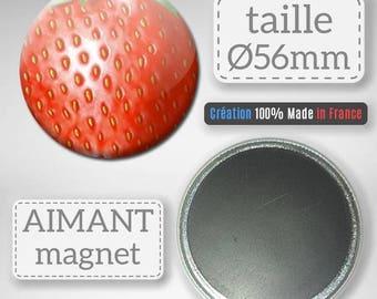 Magnet Magnet Fruit Strawberry gift Badge 56 mm