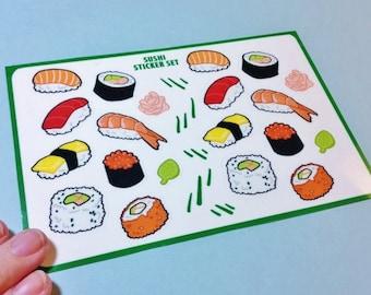 Sushi Sticker Set