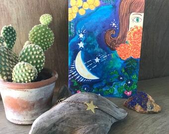 My Moon Zodiac: Virgo Greeting Card