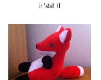 Red the Fox plush pattern